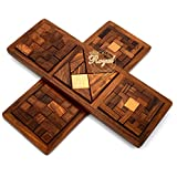 Wooden Jigsaw 3 In 1 Puzzle Plate Toys Game For Kids Wooden Toys For Family And Travel Royal Craft Enterprises (Star Puzzle)