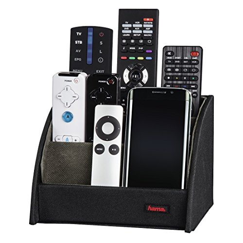Hama Commander Remote Control Holder (For Up To 9 Remote Controls, Also Used As Organiser For Glasses, Smartphones, Controllers & Cds), Black