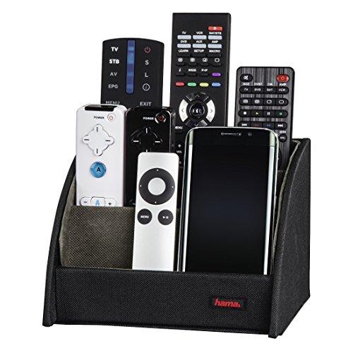 """HAMA Porta telecomando universale in legno""""Commander"""", nero"""