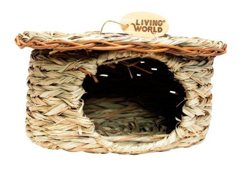 Living World Green Schilfgrashütte für Rennmäuse und Degus (Rennmaus-haus)