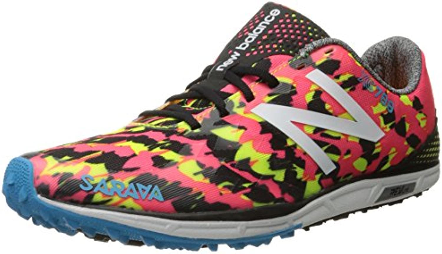 New Balance Mujer 700v4 Track Spike Running Shoe, Pink/Black, 35 EU