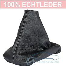 L&P A0040 Funda saco cuero de 100% real piel genuina negro con costura negra de palanca de cambios cambio velocidad velocidades marchas saco de conmutación