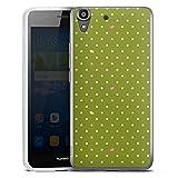 DeinDesign Huawei Y6 Silikon Hülle Case Schutzhülle Punkte Green Muster