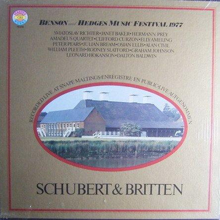 Preisvergleich Produktbild Benson und Hedges Music Festival 1977 (Schubert & Britten) [Vinyl Schallplatte] [3 LP Box-Set]