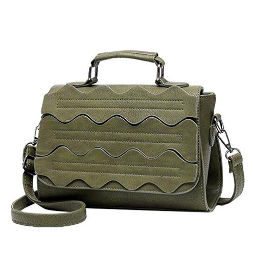 16a70ec36c02b Baymate Vintage Handtasche für Damen PU Leder Hobo Umhängetasche  Henkeltasche Grün