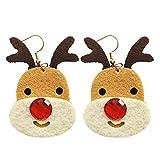 Italily Gioielli Natale Orecchini Donne Far Cadere Penzolare Orecchini Alce Albero Di Campana Fiocco Di Neve Earrings Ragazze Bello Earrings Christmas Gioielli Accessories (A)