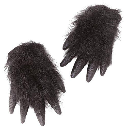 Gorilla Hände zum Überziehen Affenhände Gorillahände für Tierkostüm
