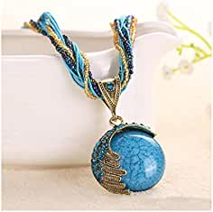27e18afb3177 Handmade Antique Retro Sueño Half Moon Collar