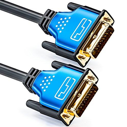 deleyCON HQ DVI zu DVI Kabel - DVI-D Dual Link - 1080p / Full-HD / 3D Ready - DVI auf DVI Adapterkabel, 3m (Link Dual Analog Video Digital)