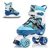meteor 2in1 Rollschuhe und Schlittschuh - Kinder Rollerskates Set - Dieser Schuh ist im Sommer als Rollschuh -im Winter als Damen Schlittschuh -S(31-34)-M(35-38)-L(39-42)