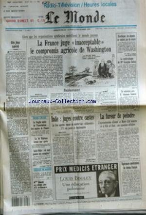 MONDE (LE) [No 14874] du 22/11/1992 - UN JEU SERRE...