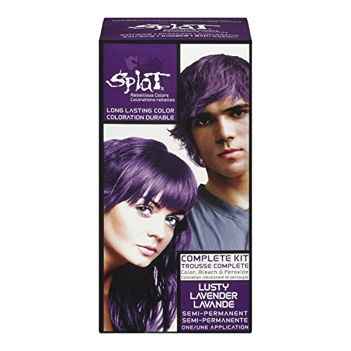 Splat Complete/Semi Permanent Hair Colour Kit Lusty Lavender