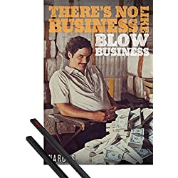 Póster + Soporte: Narcos Póster (91x61 cm) No Business Y 1 Lote De 2 Varillas Negras 1art1®