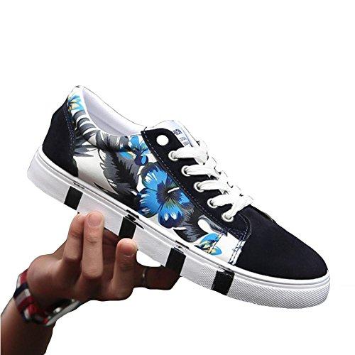 Les hommes de printemps et d'été de faible aide chaussures antidérapant pour hommes chaussures de sport de planche à chaussure blue