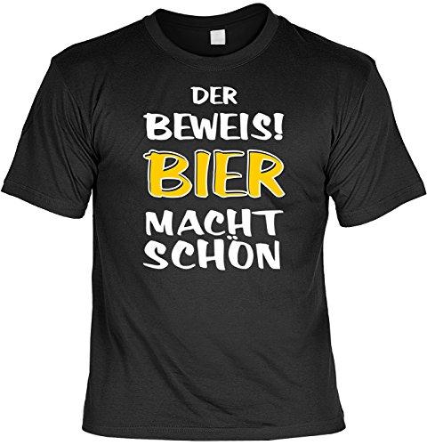 Trink-Spaß/Fun-Shirt/Rubrik lustige Sprüche: Der Beweis! Bier macht schön geniales Geschenk (Großes Bier T-shirt)