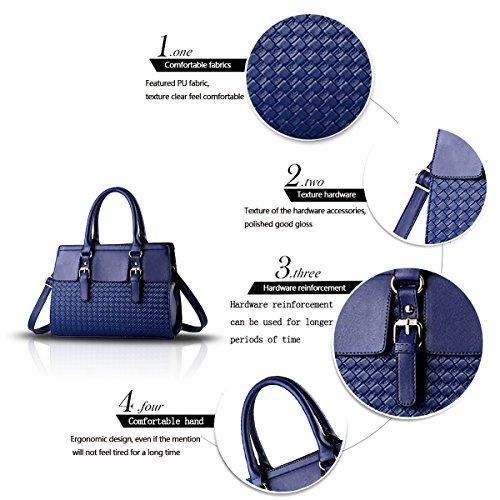 Tisdain Sacchetto selvaggio delle nuove signore di modo di modo hanno intrecciato il sacchetto del messaggero della spalla della borsa delle donne blu