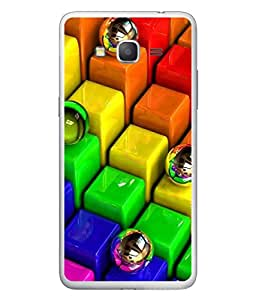 PrintVisa Designer Back Case Cover for Samsung Galaxy Grand Max G720 (Colourful Blocks With Steel Balls)