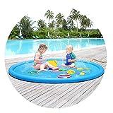 EWBF 170cm Wasserspray Pad-Aufblasbare Sprinkle und Splash Spielmatte, Sommer Spray Spielzeug Perfekt für Kinder/Hund/Katze/Haustiere und Outdoor Familienaktivitäten