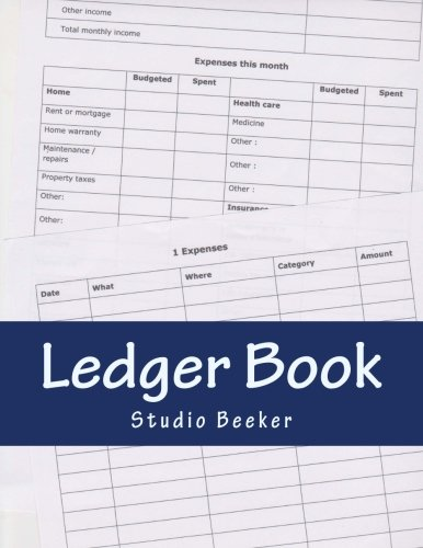 Ledger Book: Store your information in this handy ledger book. More than 120 pages to track your expenses. (columnar), 6 budgeting forms. Enough for 6 ... The book cover is laminated for durability.
