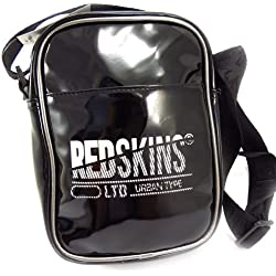 """Sac bandoulière """"Redskins"""" noir argenté (vernis)"""