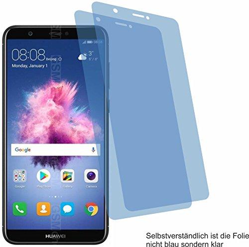 4ProTec 2X Crystal Clear klar Schutzfolie für Huawei P Smart Displayschutzfolie Bildschirmschutzfolie Schutzhülle Displayschutz Displayfolie Folie 3g-clear Hard Case