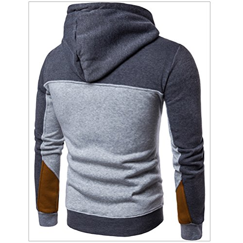 Zhhlaixing Teenagers adolescenti Youngster Winter Warm Long Sleeve Soft Hoodie Felpa con cappuccio Sportswear Jumpers Hooded Top Jacket Dark Gray