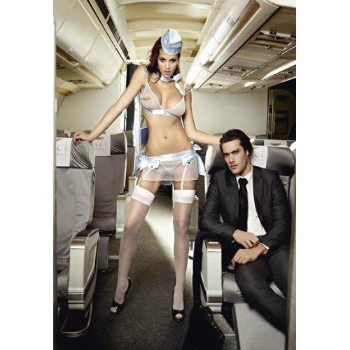 Preisvergleich Produktbild Baci Women's Airlines First Class Flight Attendant, White, One Size