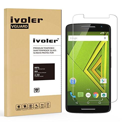 iVoler Pellicola Vetro Temperato per Motorola Moto X Play [Garanzia a Vita], Pellicola Protettiva, Protezione per Schermo