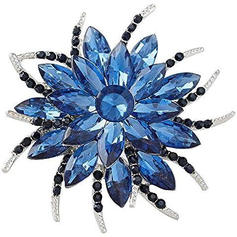Ularma De las mujeres broche, aleación y diamantes de imitación joyería de ramo de flores para fiesta