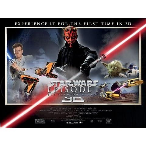 Star Wars episodio 1 3D (la amenaza fantasma) cartel de película, Unframed: - £2.99, 16-Inches x