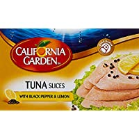 ‏‪California Garden Tuna Slices with Black Pepper And Lemon Juice 120g‬‏