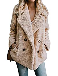 85a4577039338 Aleumdr Womens Fashion Cozy Warm Fluffy Fleece Long Sleeve Coat Sweatshirt  Jackets Tops