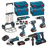 Kit Bosch RSL3618P3LE + Caddy (GBH 36 VF-LI Plus + GWS 18 V-LI + GSR 18 V-EC + GSR 18 V-EC TE + GDS 18 V-EC 250 + GOP 18 V-EC + Zubehör - GOP 18 V-EC + Ladegerät GAL3680CV + 3 Akkus 18V 5,0 Ah + 2 Akkus 36V 5,0 Ah + 2 x Koffer L-Boxx 136 + 2 x Koffer L-Boxx 238 + CADDY)