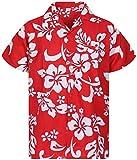 V.H.O Funky Chemise Hawaienne, Hibiskus, Ferrari Rouge, 4XL