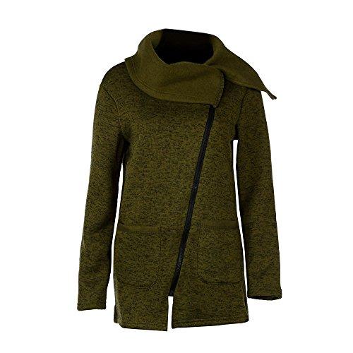 Ninasill Hot. Frauen Sweatshirt, Exklusive Herbst Winter Reißverschluss Bluse Hoodie Sweatshirt mit Kapuze Fell Jacke Casual XXXXL Armee-Grün -
