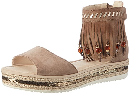 Gabor Shoes Fashion, Sandali con Zeppa Donna Marrone (walnut/space 11)