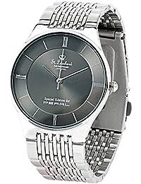 St. Leonhard Uhr: Herren-Armbanduhr aus Edelstahl, spritzwassergeschützt (3 atm) (Uhrenarmband)