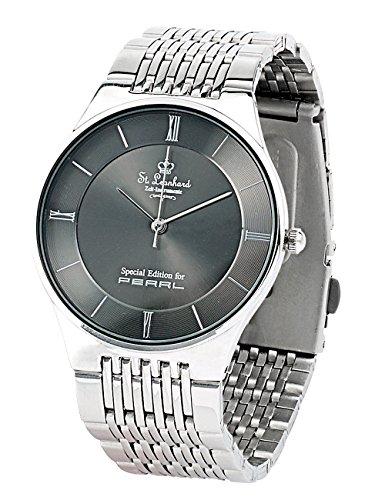 St. Leonhard Herrenarmbanduhr: Herren-Armbanduhr aus Edelstahl (Edelstahl Uhr)