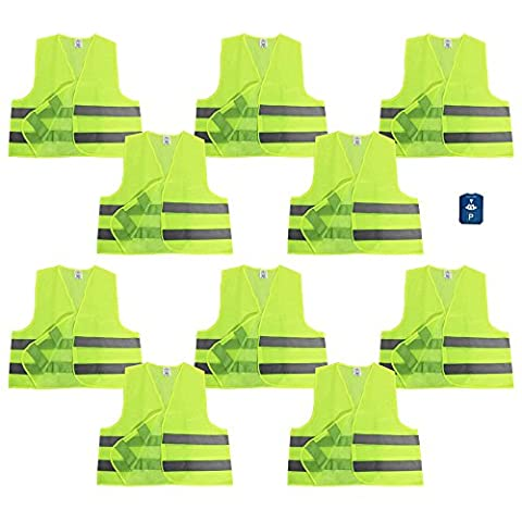 COM-FOUR ® Yellow Safety Visibility Vest 100% Polyester One Size