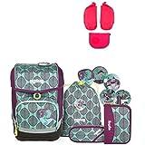 Ergobag Cubo ZauBärwald Schulrucksack-Set 5tlg + Seitentaschen ZIP-Set Pink