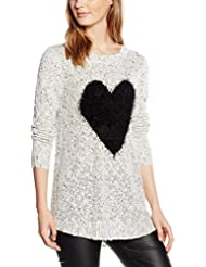 Molly Bracken E625A16 - Pull - Col rond - Manches longues - Femme