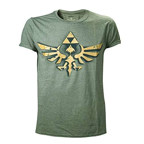 Meroncourt Nintendo Legend Of Zelda Men's Vintage Royal Crest Gold Log
