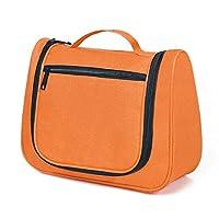 UrCool Unisex Travel Hanging Cosmetic Organizer Kit Toiletry Bags Makeup Storage Bag Case Orange