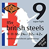 Rotosound Stainless Steel Super Light Gauge Electric Guitar Strings (9 11 16 24 32 42)