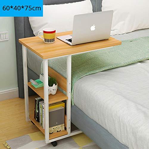 Sunlmg comodino scrivania/ciliegio tavolino slide sotto divano tavolino/stecche di metallo snack e vassoio del computer portatile
