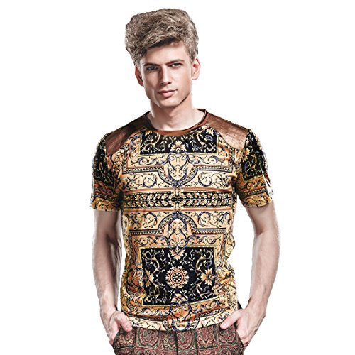 Fanzhuan maglietta uomo elegante maglietta uomo manica corta moda