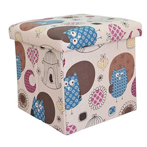 FAUCETYYY Aufbewahrungsbox Neue Kinder Cartoon Baumwolle Hanf Faltbare Vlies Sammlung Box Spielzeug Buch Eintritt Hocker Kleidung Aufbewahrungsboxen Veranstalter -