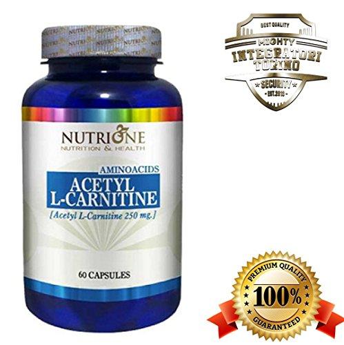 Integratore Acetyl L Carnitine 60 cps Acetil L Carnitina Aminoacidi Termogenico Brucia Grassi Energetico Tonico