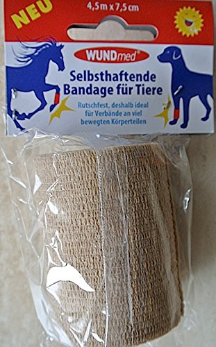 WUNDmed 04-027 selbsthaftende Tierbandage 4,5mx7,5cm color, Color:creme