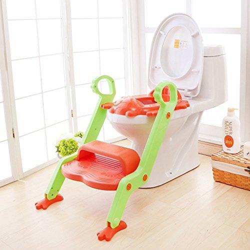 Bébé Toddler Potty Formation Toilettes Ladder Siège Steps Maman Helper Collection Potty Seat (Couleur : Orange)